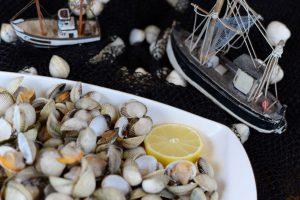 Sabores de berberechos de Carril en Restaurante Xentes